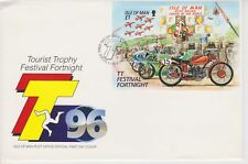 Unaddressed Isle of Man FDC First Day Cover 1996 TT Tourist Trophy 10% off 5
