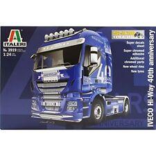 Iveco Hi-Way 40th Aniversary Truck Plastic Kit 1:24 Model 3919 ITALERI