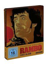 RAMBO I: FIRST BLOOD (Sylvester Stallone) Blu-ray Disc, Steelbook NEU+OVP