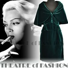 Jacket Coat Skirt Suit Velvet Vintage Droopy Browns 40s Vamp 50s 30s Glamour