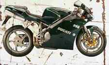 Ducati 998 Matrix 2004 Aged Vintage Photo Print A4 Retro poster