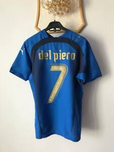 ITALY ITALIA 2006 WORLD CUP HOME FOOTBALL SOCCER SHIRT JERSEY PUMA DEL PIERO #7
