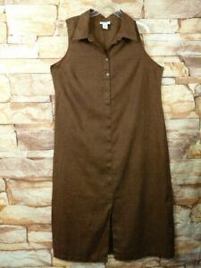 AVENUE Brown 100%  linen  women's casual Maxi Dress Sz 18/20 Plus