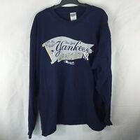 New York Yankees 2003 American League Champions XL Blue LS Tee Shirt
