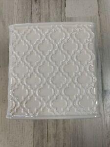 Hotel Vendome White Square Tissue Box Porcelain