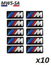 x10 Autocollant Sticker 3D Logo BMW M M-TECH JANTES VOLANT ///M Performance +