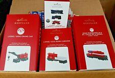 Nib 2020 Hallmark Ornament Lionel 4 Piece Train Set Free Shipping !