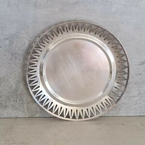 Art Deco WMF Ikora Silver Plated Small Plate Dish Germany 16.4cm wide 1920s