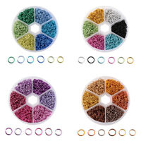 1080Pcs/Box Wholesale Mixed Color Open Jump Rings Connectors DIY Jewelry 6 mm