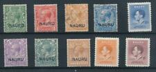 [8875] Nauru good lot very fine MH-used stamps