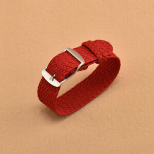 14mm-22mm Nylon Watch Band Canvas Classic Buckle Quick Release Loop Straps