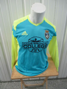 ADIDAS REAL MIAMI F.C. MEDIUM LONG SLEEVE SEWN GOALIE JERSEY MIAMI DADE C.C.