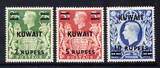 KUWAIT 1948/9 GVI SG72/3a high values of set of GB opt mounted mint cat £81.50