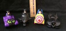 McDonalds 1991 Vintage Batman Vehicle Complete Set: Batman, Catwoman, & Penguin
