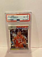 1987 Fleer Charles Barkley Philly Sixers HOF Basketball Card PSA Mint 8 #9