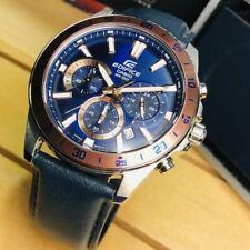 Casio Edifice EFV-570L-2B Men's Chronograph Leather Band Analog Watch