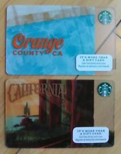 2 STARBUCKS ORANGE COUNTY CALIFORNIA redwoods Hwy 1 Gift Cards pool palms water