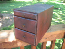 Antique 2 Drawer with Tray Wood File Cabinet