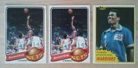 1979 Topps Bernard King #14 (x2) Nets & 1981 (#72) Warriors