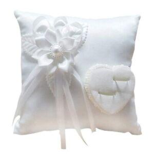 Wedding Ring Cushion Romantic Ring Holder Pillow Heart Favors Wedding Supplies