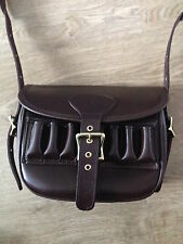HAND FINISHED LEATHER 100+ CARTRIDGE BAG QUICK LOAD LOOPS for game shooting clay