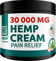 Hemp Oil Infused Cream 30000 MG for Pain Relief Skin Irritation Insect Bites 2OZ