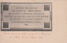 A8598) AOSTA ALPINI, LAPIDE CAP. MOTTINO MORTO ADUA, 9 BAT. ARTIGLIERIA MONTAGNA