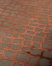 Zimmer & Rohde Epingle Crackle Velvet Upholstery Fabric- Raku Spice 2.10 yd