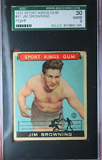 1933 Goudey Sport Kings JIM BROWNING #41 SGC 30/2 GOOD ~TOUGH CARD~ DD7