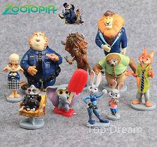 10x Zootopia Zootropolis Judy Hopps Nick Wilde Mr Big Doll Toy Figures with Base