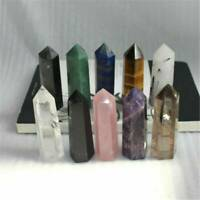 Natural Flourite Amethyst Rose Clear Quartz Crystal Point Obelisk Wand Healing K