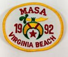 Mid-Atlantic Shrine Assoc MASA VA Virginia Beach 1992 Shriners Embroidered Patch