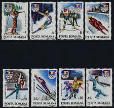 Romania 3713-20 MNH Winter Olympics, Skiing, Luge, Ice Hockey