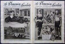 1933 DOMENICA SPORTIVA GP Nizza Nuvolari Maserati 8CM Ciclismo Binda Guerra