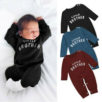 Newborn Baby Boy Girl Jumpsuit Playsuit Clothes Outfits Infant Hooded Romper UK