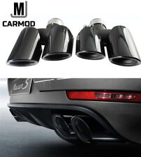 Fit for Porsche Macan 2.0T Base 2014-18 Black Macan Exhaust Tips Muffler Pipes
