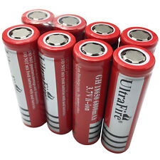 8 X 18650 Batteries 6800mAh 3.7V Li-ion Rechargeable Battery Flat Top Flashlight