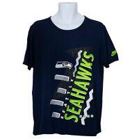 Seattle Seahawks Nike Mens T-Shirt Blue Size L Large Short Sleeve Athletic Cut
