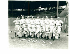 1941 MUSKEGON REDS 8X10 TEAM  PHOTO  MICHIGAN BASEBALL LIPON OVERMIRE MCHALE