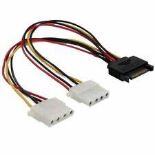 SATA auf Molex (IDE) Adapter wandelt SATA Stecker zu 2x Molex Strom Stecker 20cm