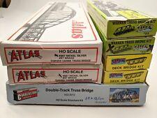 Atlas/Walthers HO Bridge Kits Assortment Lot (See Notes/Pics)