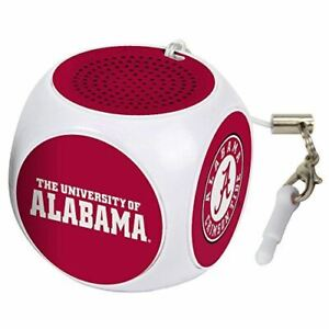 AudioSpice NCAA Alabama Crimson Tide MX-100 Cubio Mini Bluetooth Speaker, White,