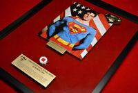 Superman SIGNED Christopher Reeve, FRAME, COA, UACC, DVD Box Set, piece of CAPE!