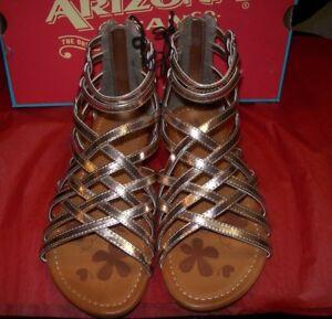 GIRL'S  ARIZONA BRIDGET SANDALS ROSE GOLD MULTIPLE SIZES NEW IN BOX MSRP$40