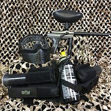 New Kingman Spyder Fenix Epic Paintball Marker Gun Package Kit - Silver/Grey