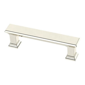 """Brainerd Refined Square P37391W-PN-CP 3"""" C-C Polished Nickel Cabinet Pull"""