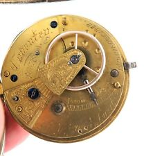1885 ENGLISH STERLING SILVER FUSEE POCKET WATCH. A H DRINKWATER, COVENTRY.