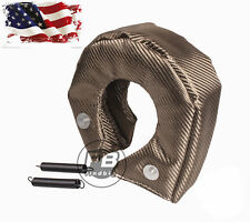 T3 Titanium Lava Fiber Turbo Blanket Heat Shield Barrier Turbocharger Cover Wrap