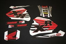 HONDA XR 80 - XR 100 MX GRAPHICS KIT DECALS KIT STICKER KIT STICKERS WHITE