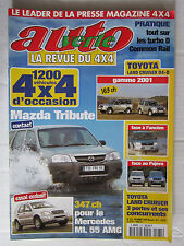 AUTO VERTE  4X4 N° 235 /MAZDA TRIBUTE/MERCEDES ML 55 AMG/LAND CRUISER D4-D